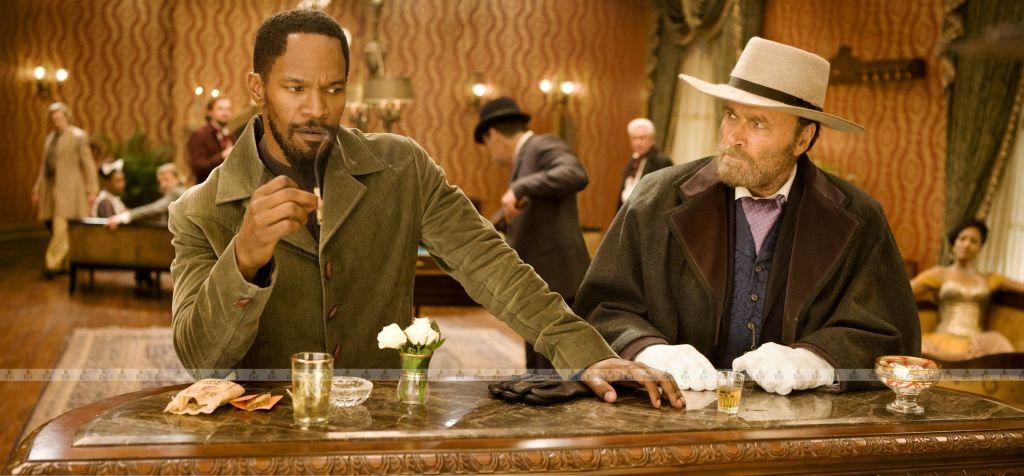 Django Unchained, lo storico incontro tra Jamie Foxx e Franco Nero sul set