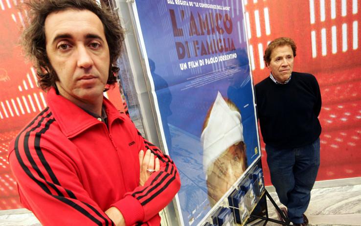 L'amico Di Famiglia, Paolo Sorrentino e Giacomo Rizzo alla presentazione del film