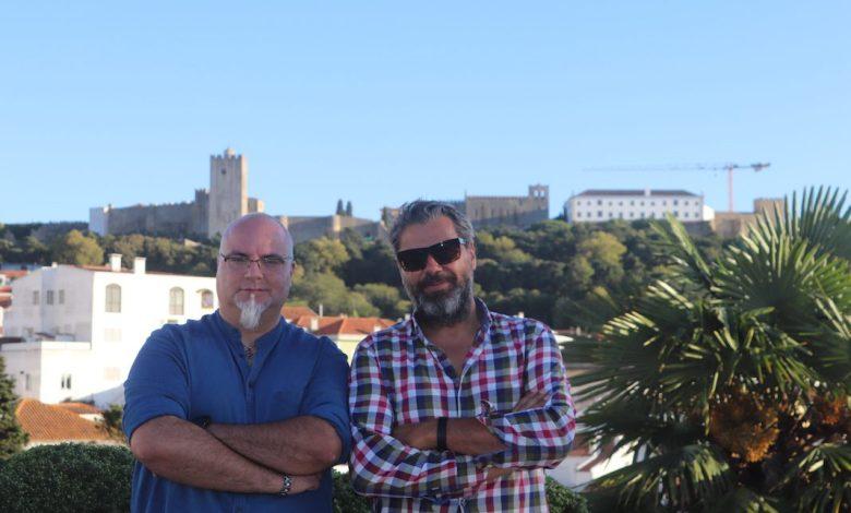 Esq: Yuri Ribeiro (actor)   Dir: Luís Albuquerque (Realizador)