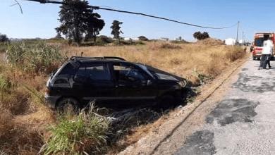 Photo of Ferido grave em despiste na Estrada das Hortas em Alcochete