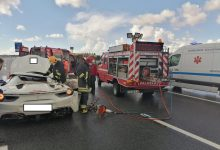 Photo of Ferrari despistou-se na A2 e ficou destruído. Veja as fotos