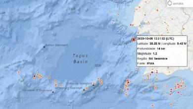 Photo of Pequeno abalo sísmico registado ao largo de Sesimbra