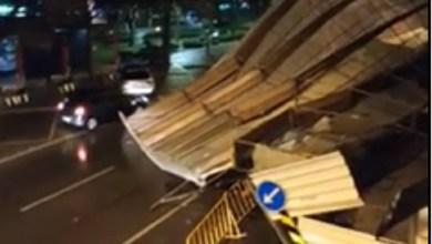 Photo of Trânsito cortado na Avenida Luísa Todi após queda de andaime