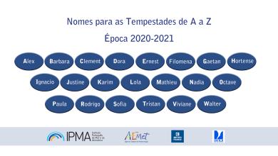 Photo of De 'Alex' a 'Walter', são estas as tempestades a esperar em 2020/2021
