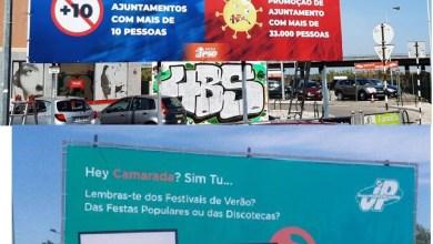 Photo of Cartazes do PSD e JP com críticas à realização da Festa do Avante!