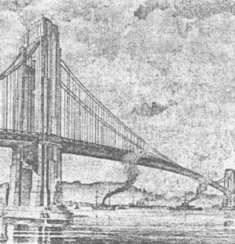 Projeto da década de 20 para a ponte Rio-Niterói