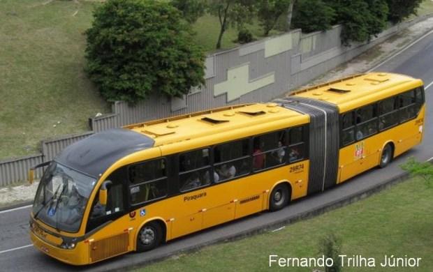 desintegração ônibus Curitiba