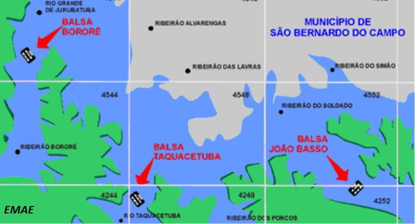 Caminho por balsas entre ABC e zona Sul