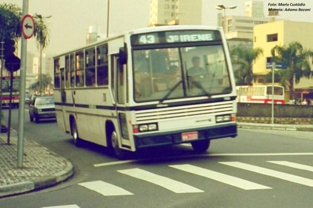 Pintura da Viação São José na época da reformulação dos transportes nos anos de 1990, em Santo André