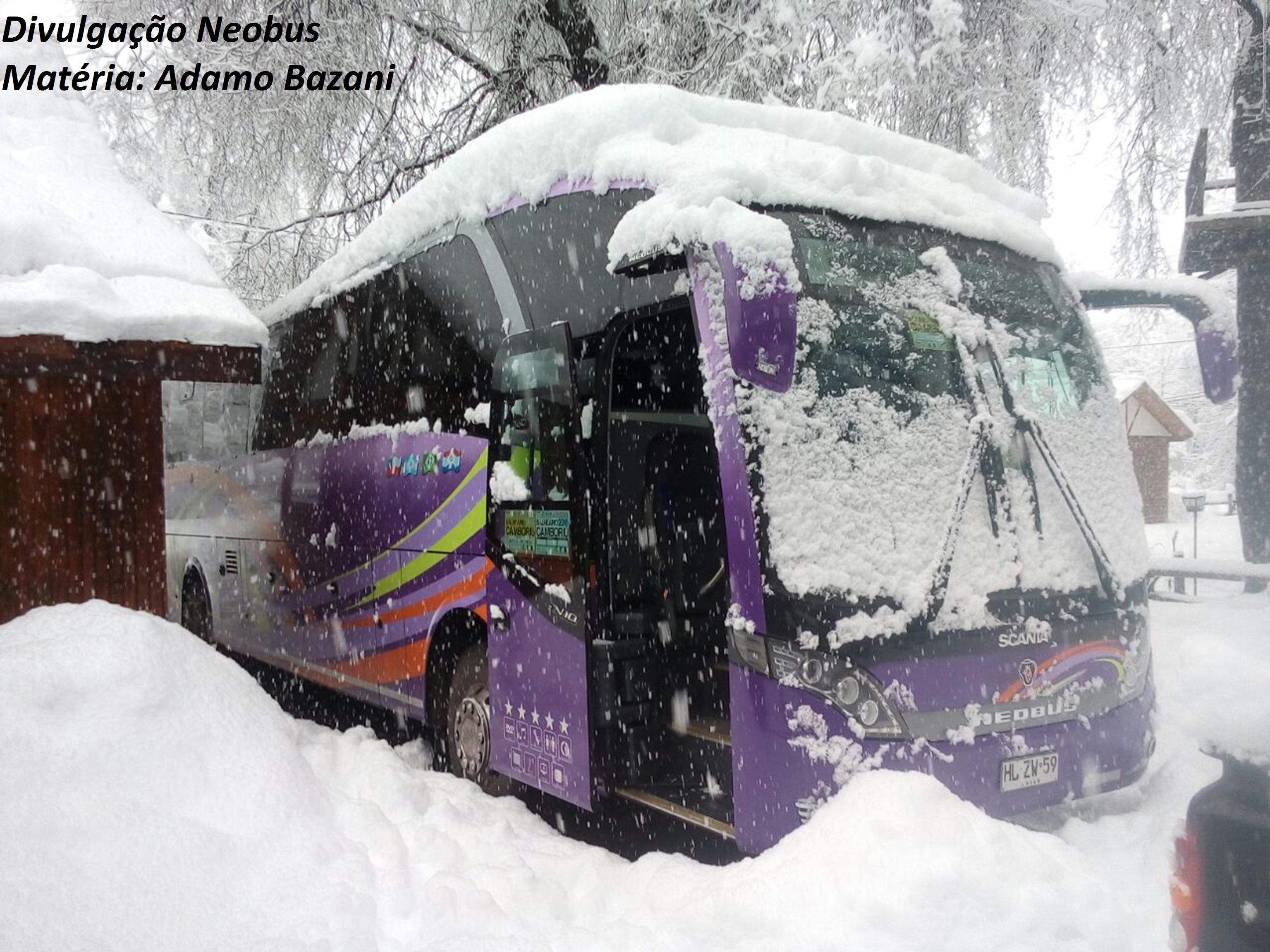 Um modelo de ônibus brasileiro vencendo a nevasca chilena – Diário ... 1c7c7b471d0f1