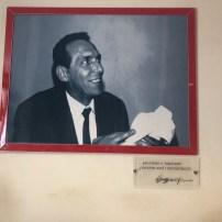 """Terzino Spaggiari, fundador da SPAL. Na legenda da foto, um resumo da história da empresa: 'Passione e impegno"""" (Paixão e empenho)"""