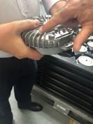 Tampa do motor axial