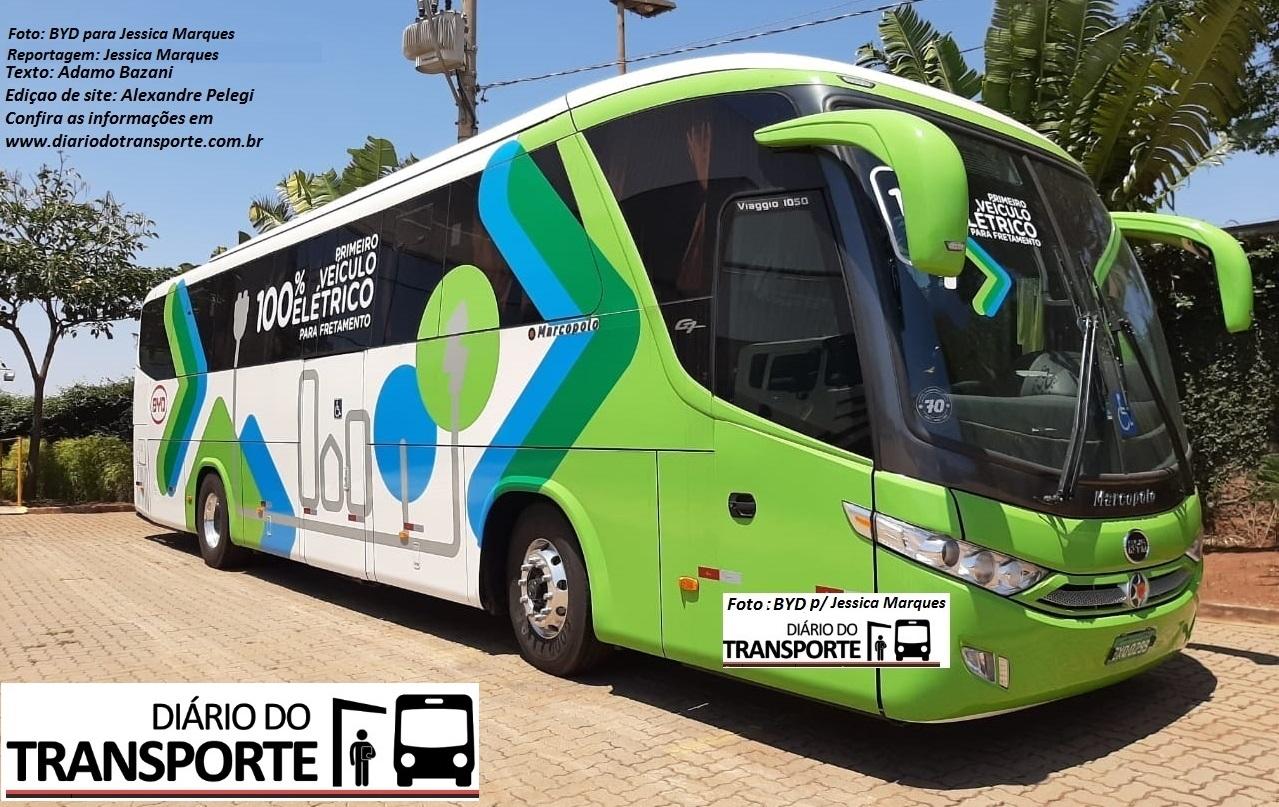 ônibus rodoviário elétrico BYD / Marcopolo