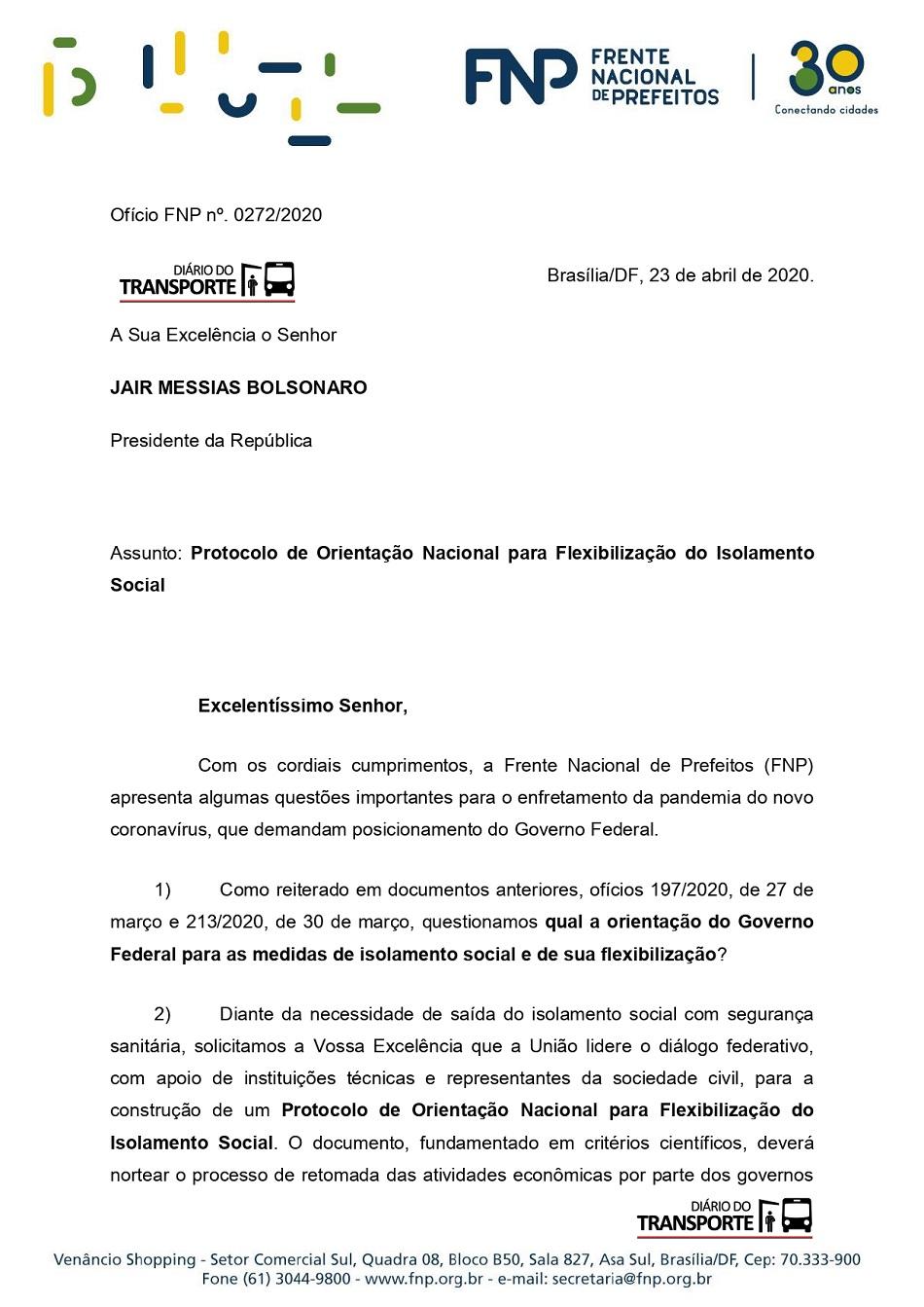 Ofício FNP272 2020- Pres. Jair Bolsonaro 01