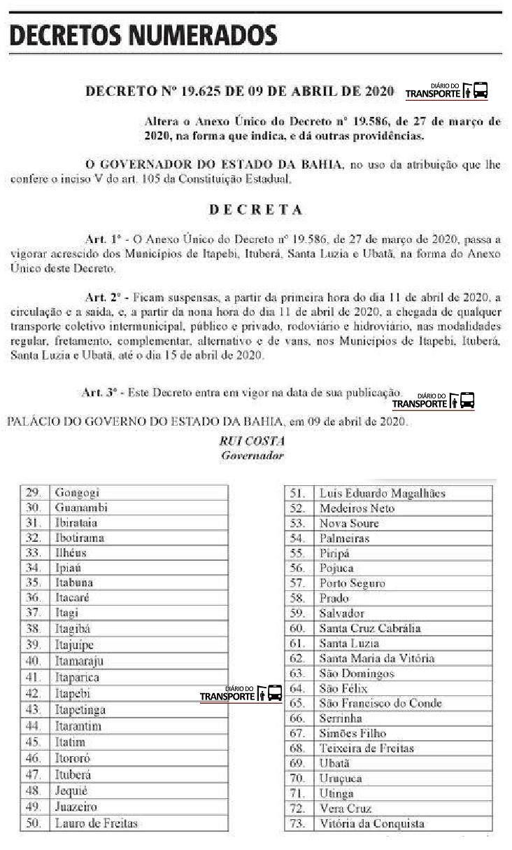decreto Bahia