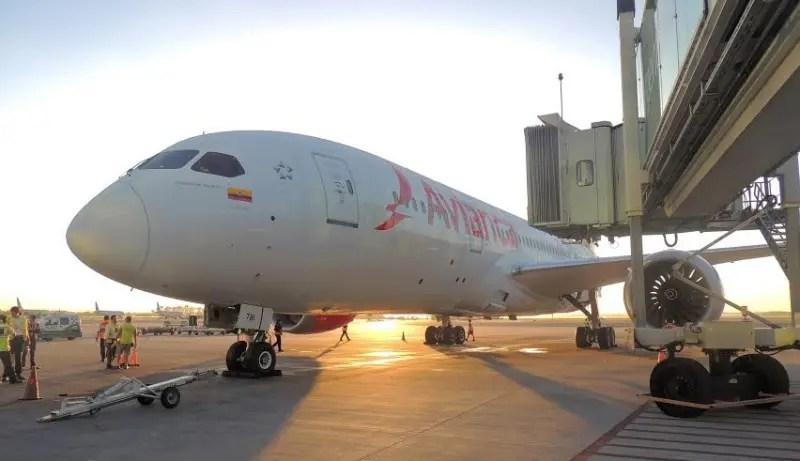 Aeronaves Dreamliners da Avianca iniciam operações na América do Sul