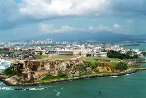 Foto aérea de San Juan, capital de Porto Rico (Foto: Arquivo DT)