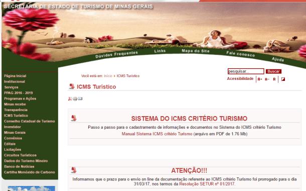 Setur-MG lança novo Sistema do ICMS critério Turismo