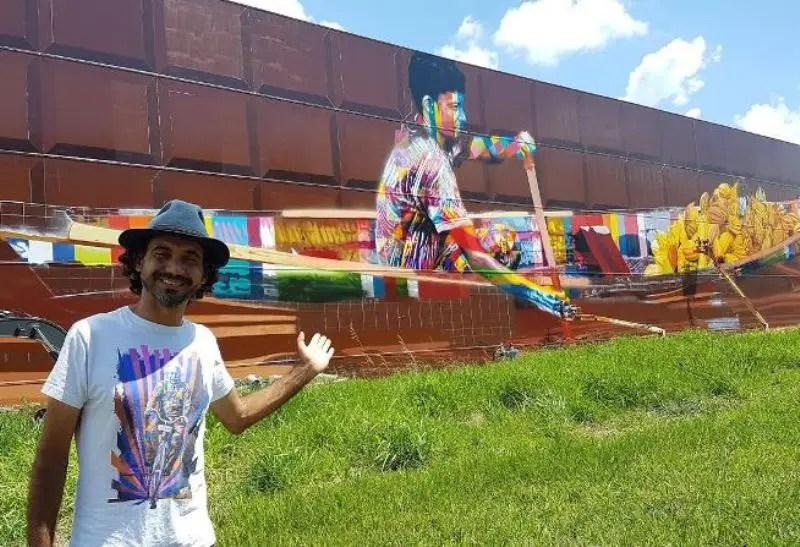 Eduardo Kobra pinta maior mural do mundo na Castelo Branco