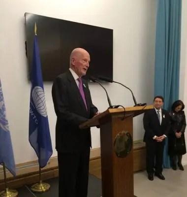 Cerimônia de nomeação de embaixadores na sede da OMT em Madrid (Foto: divulgação)