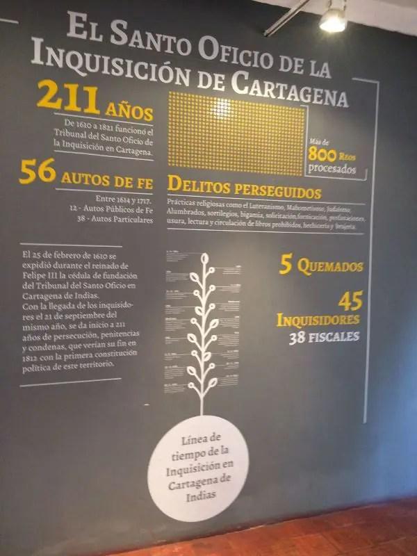 Este período tenebroso em Cartagena durou 211 anos se estendendo de 1610 a 1821.