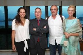 Cristina Braga, Bayard Boiteux, Ricardo Medeiros e Josefina Durini