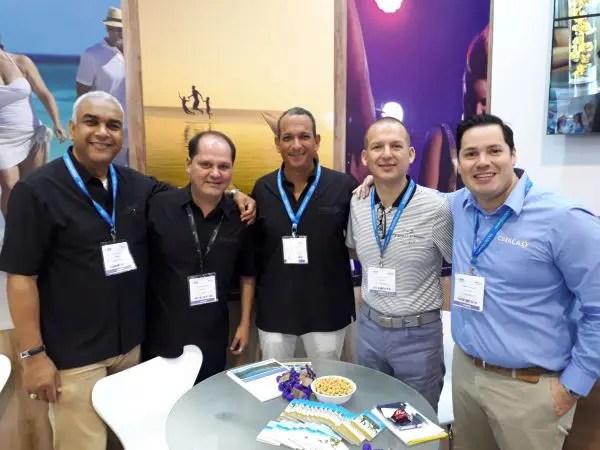Carlos Córdoba, Ney Neves, Alexis Jaquez, Javier Navarro e Guillermo Ortega