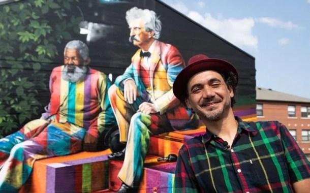 Eduardo Kobra entrega mural em Buffalo e inicia hoje painel em New Orleans
