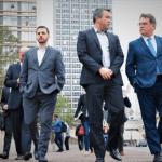 Secretário de Turismo Vinicius Lummertz caminha com investidores no Centro de São Paulo