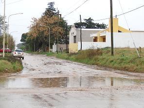 Una de las calles afectadas.