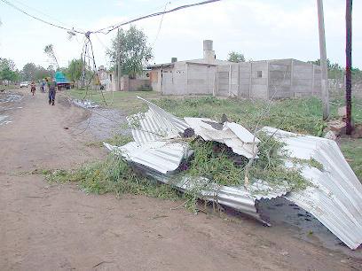 No se recuerda un temporal con viento huracanado tan intensos como este, en 9 de Julio.