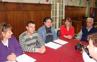 Conferencia de prensa realizada en 9 de Julio.