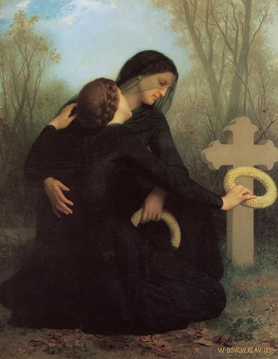 El día de los muertos (1859) por William-Adolphe Bouguereau