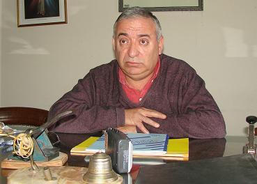 Comandante Mayor Néstor Márquez, jefe de Bomberos de 9 de Julio.