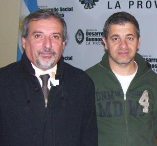 Javier Sampietro junto al Director de Tercera Edad Provincial, Claudio Santín.