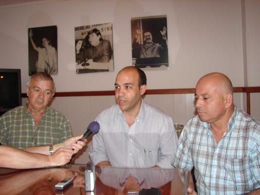 Oscar Galarza, Sergio Sánchez y Walter Anchava.