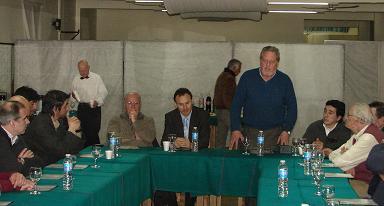 En la cabecera, Pablo Bruera, Luis Moos, Hugo Gailach y Carlos Litman Malis.