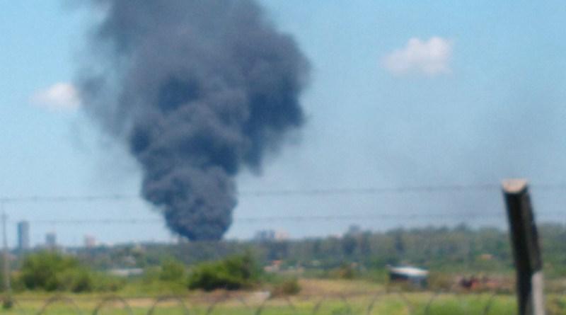 Último momento ,Incendio en inmediaciones del Aeropuerto