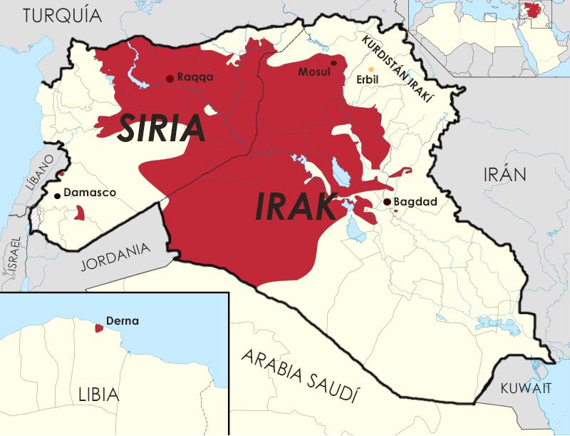 Estado Islamico Mapa Actual.Un Error Del Enemigo Islamico Desaprovechado Bucker125
