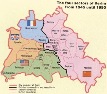 La división en Berlín, en el lado excomunista suele ser más barato.