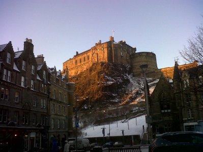 El castillo al atardecer, la tarde de Nochebuena.