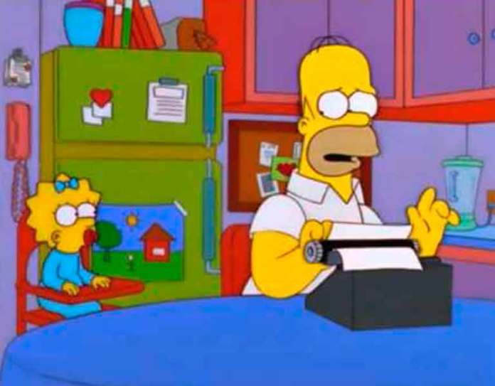 Homero trabajando como crítico gastronómico