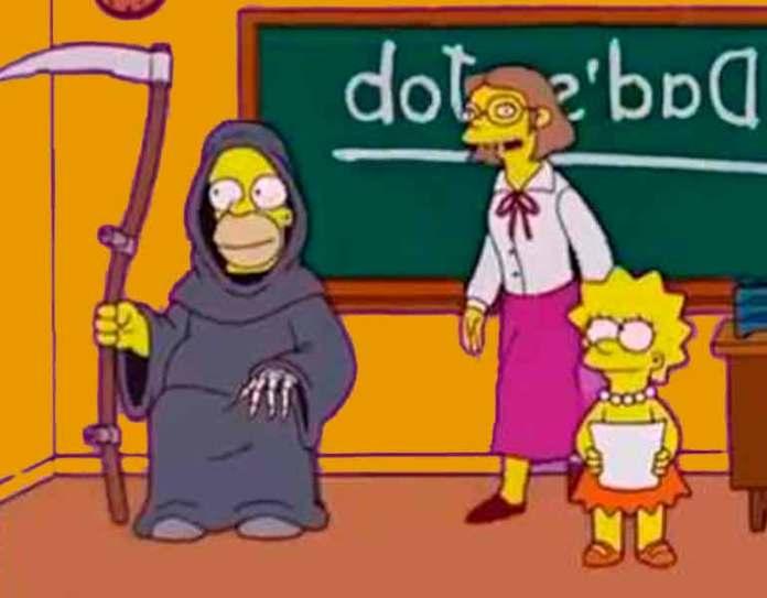 Homero trabajando como la muerte