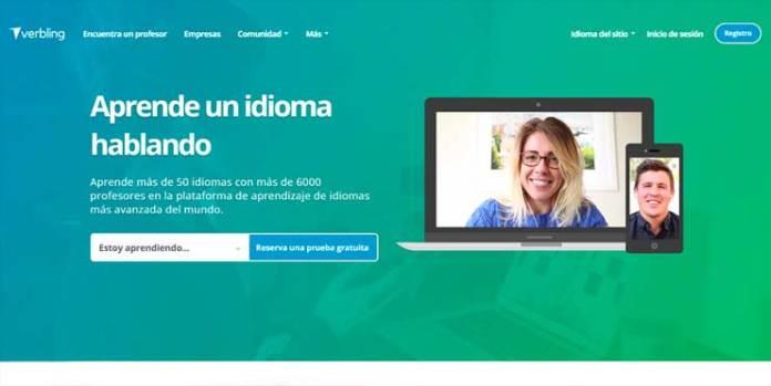 Enseñar inglés online con verbling