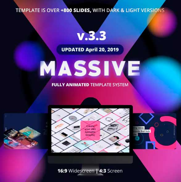 Massive X Presentation power point template