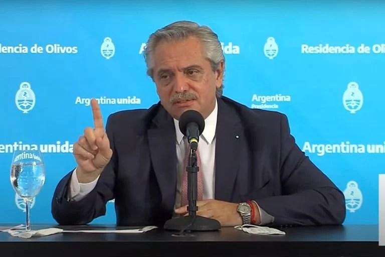Alberto Fernández   El día 100
