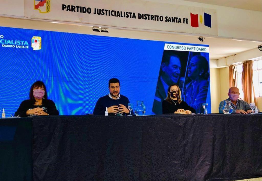 FOTO PRENSA PJ AUTORIDADES. Celia Arena, Marcos Cleri, Lucila De Ponti y Jorge Molina.