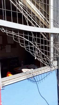 Robo Liceo Bicentenario en toque de queda 1