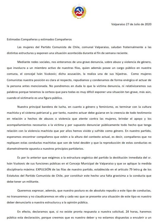 CARTA DENUNCIA MUJERES COMUNISTAS_001