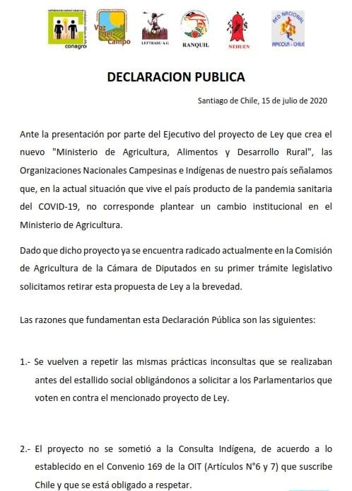 Declaracion Publica Organizaciones Campesinas de Chile_001
